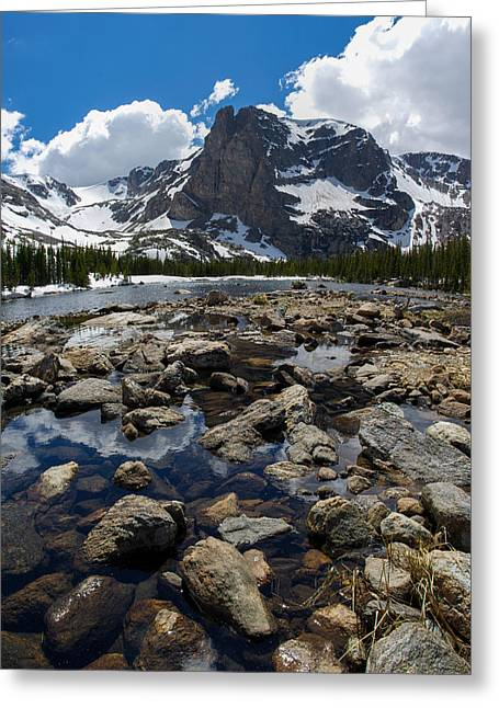 Reflections In River Greeting Cards - Notchtop Mountain Greeting Card by Aaron Spong