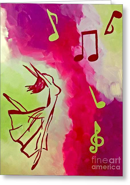 Ballet Dancers Greeting Cards - Notes of Delight Greeting Card by Jilian Cramb