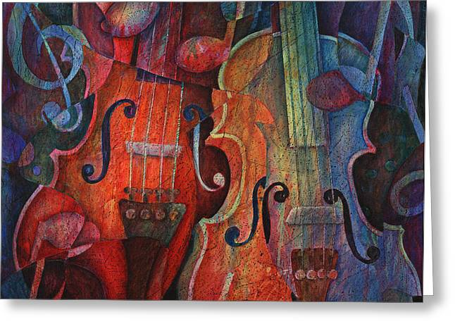 Noteworthy - A Viola Duo Greeting Card by Susanne Clark