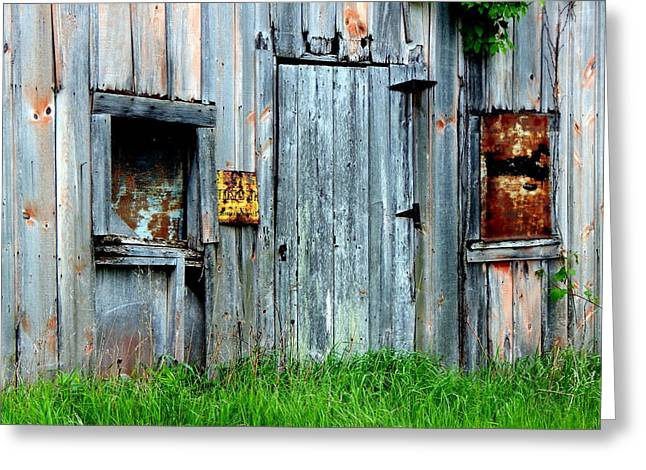 Outbuildings Greeting Cards - Nothing Matters Anymore Greeting Card by Wild Thing