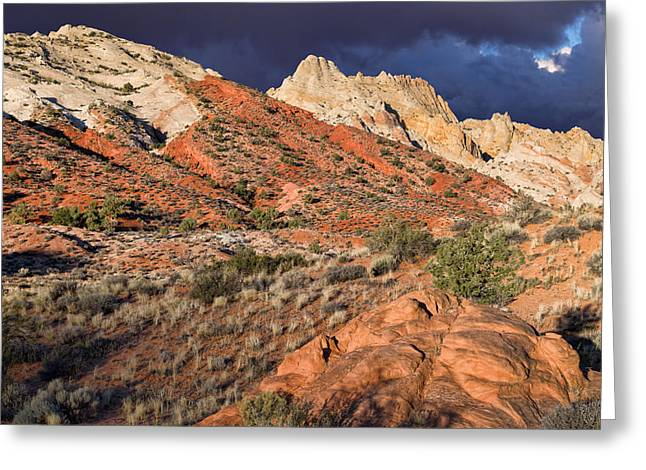 Southern Utah Greeting Cards - Notom Morning Greeting Card by Kathleen Bishop
