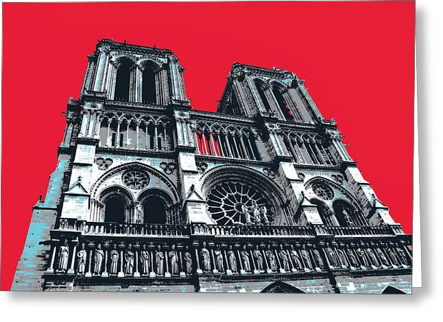 Notre Dame Cathedral Greeting Card by Shay Culligan
