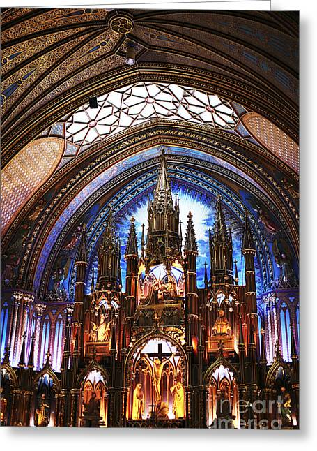 Notre Dame Ceiling Greeting Card by John Rizzuto
