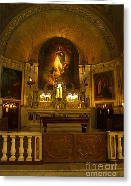 Notre-dame-de-bon-secours Chapel Greeting Card by Deborah Benoit
