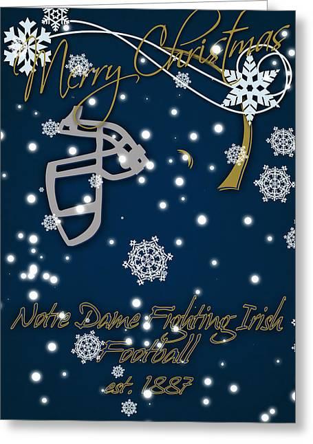 Notre Dame Fighting Irish Christmas Card Greeting Card by Joe Hamilton