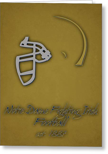 Dunk Greeting Cards - Notre Dame Fighting Irish Helmet 2 Greeting Card by Joe Hamilton