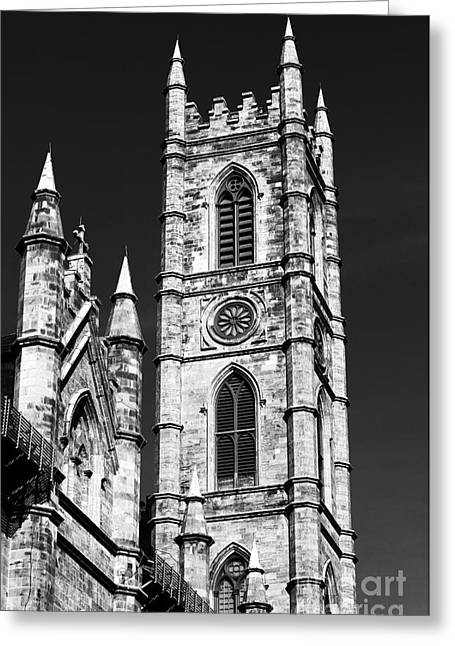 Quebec Province Greeting Cards - Notre Dame in Montreal Greeting Card by John Rizzuto