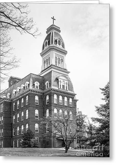 Md Greeting Cards - Notre Dame of Maryland University Gibbons Hall Greeting Card by University Icons