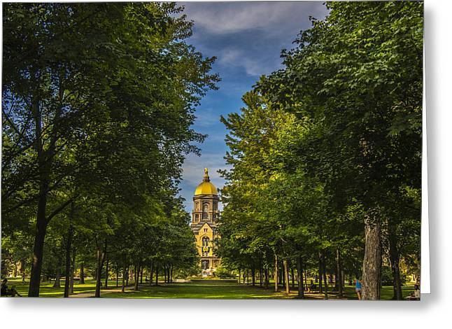 Notre Dame University 2 Greeting Card by David Haskett