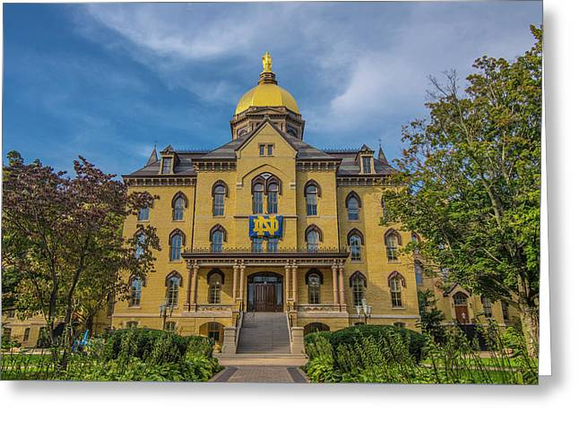 Notre Dame University Golden Dome Greeting Card by David Haskett