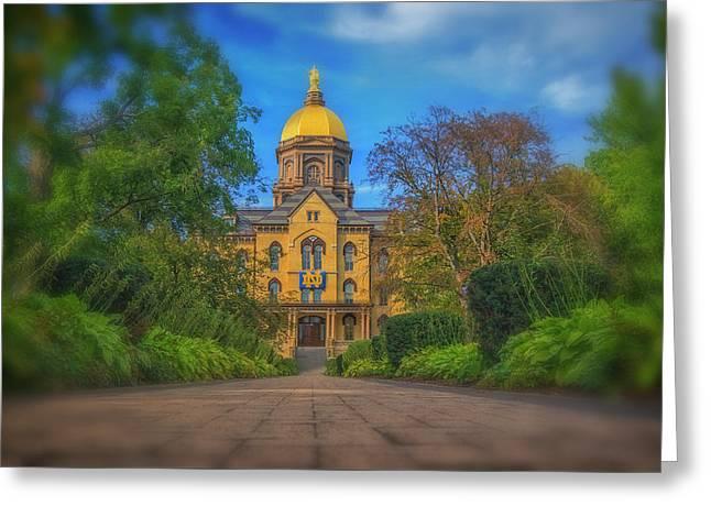 Notre Dame University Q2 Greeting Card by David Haskett