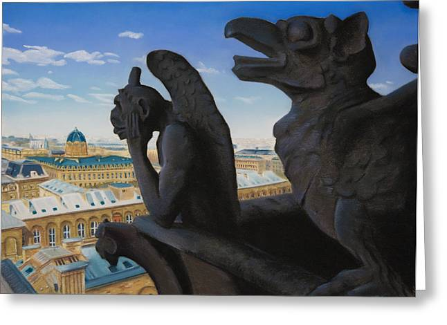 Paris Pastels Greeting Cards - Notre Dame View Greeting Card by Christopher Reid