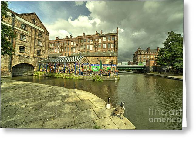 Nottingham Waterfront  Greeting Card by Rob Hawkins