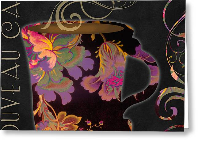 Nouveau Cafe Warm Greeting Card by Mindy Sommers