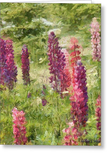 Purple Flower Greeting Cards - Nova Scotia Lupine Flowers Greeting Card by Jeff Kolker