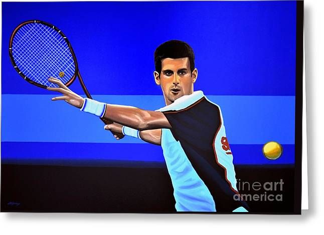 Novak Djokovic Greeting Card by Paul Meijering