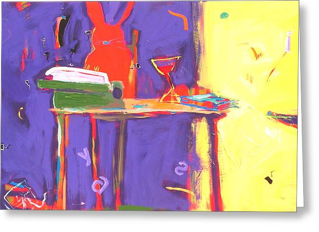 Typewriter Paintings Greeting Cards - Novel Idea Greeting Card by Anne Schreivogl