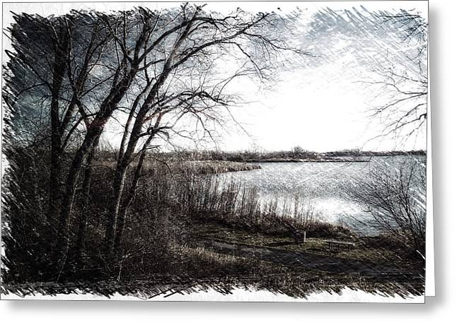 November By The Walking Path Pa 01 Greeting Card by Thomas Woolworth