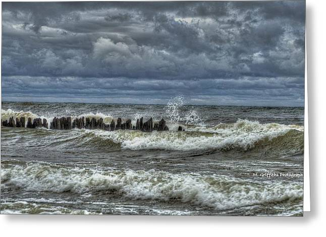 Landscape Framed Prints Greeting Cards - November Gale Greeting Card by Mike Griffiths