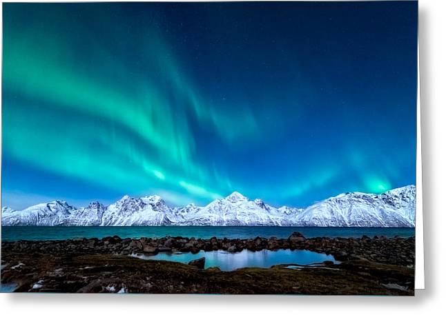 Alps Greeting Cards - November night Greeting Card by Tor-Ivar Naess