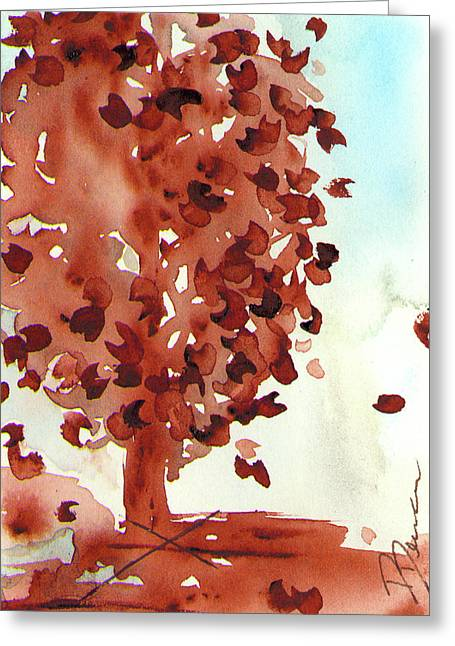 November Pear Greeting Card by Dawn Derman