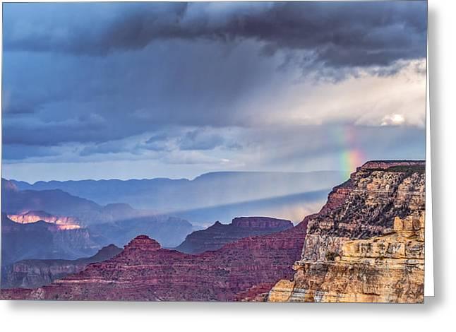 November Rain - Grand Canyon National Park Photograph Greeting Card by Duane Miller