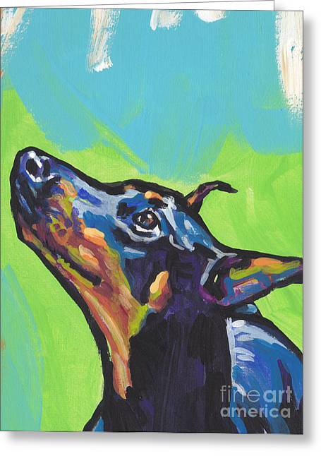 Noving Like A Dobie Greeting Card by Lea S