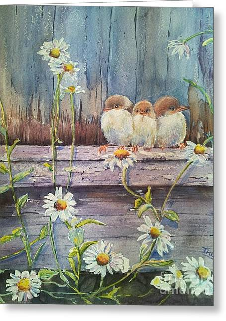 Recently Sold -  - Powder Greeting Cards - Now Where? Greeting Card by Patricia Pushaw