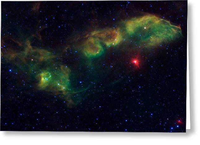Nu Scorpii Or Jabbah V Sco, 14 Scorpii A Star System In The Constellation Scorpius Greeting Card by American School