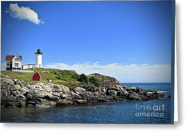 Nubble By Day Greeting Card by Sarah Labadie
