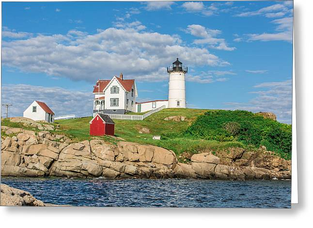 Cape Neddick Lighthouse Greeting Cards - Nubble Light Greeting Card by James Weyand