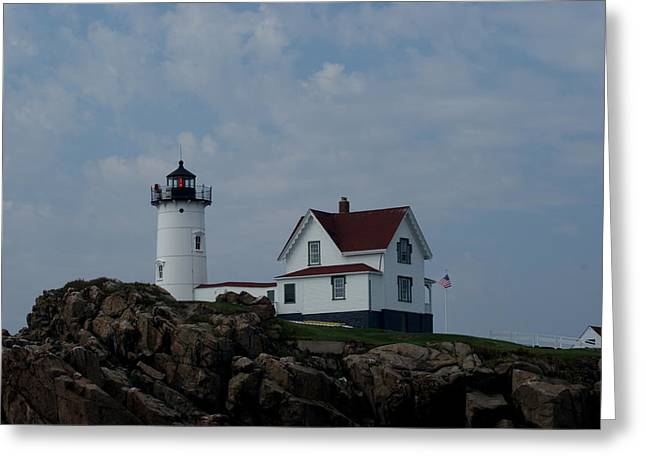 Nubble Light Maine Greeting Card by Lois Lepisto