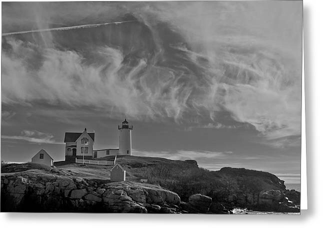 Nubble Light Greeting Card by Steve Foster