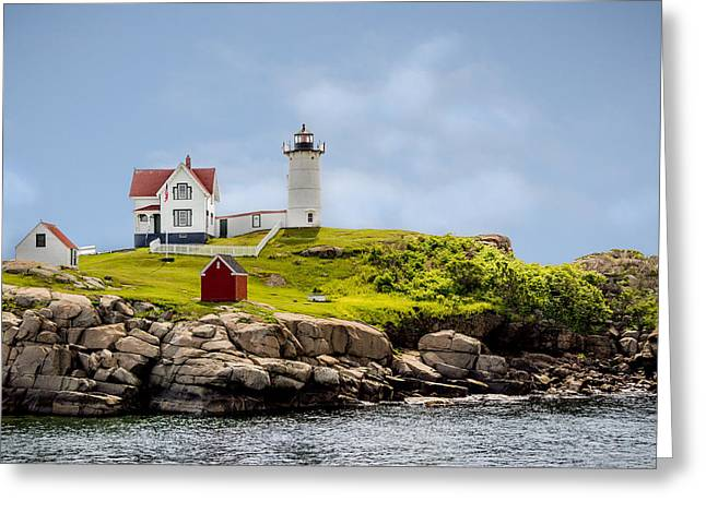 Recently Sold -  - Maine Lighthouses Greeting Cards - Nubble Lighthouse Greeting Card by Cheryl Swift