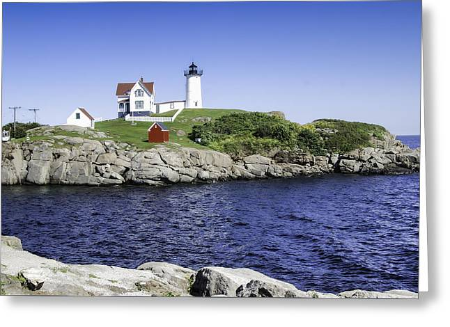 Cape Neddick Lighthouse Greeting Cards - Nubble Lighthouse Greeting Card by Phyllis Taylor