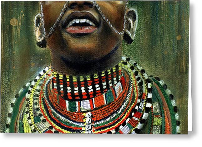 Nubian Dream Greeting Card by GARY WILLIAMS