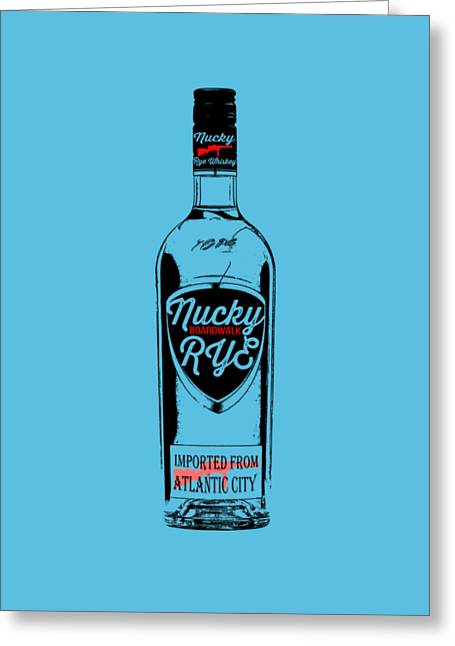Nucky Thompson Boardwalk Rye Whiskey Tee Greeting Card by Edward Fielding