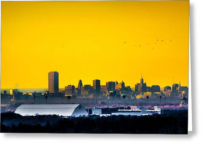 Acrylic Art Greeting Cards - Nuclear City Reaction Greeting Card by Carlos Ruiz