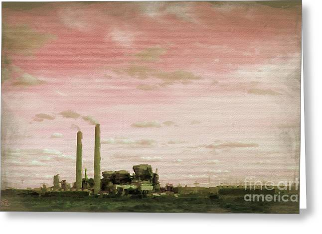 Power Plants Greeting Cards - Nuclear Meltdown Greeting Card by Beauty For God