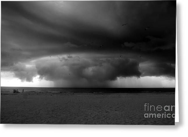 Thunderstorm Greeting Cards - Nuclear thunderstorm Greeting Card by David Lee Thompson