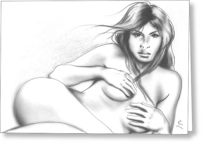 Contemporary Native Art Greeting Cards - Nude 1 Greeting Card by Robert Martinez
