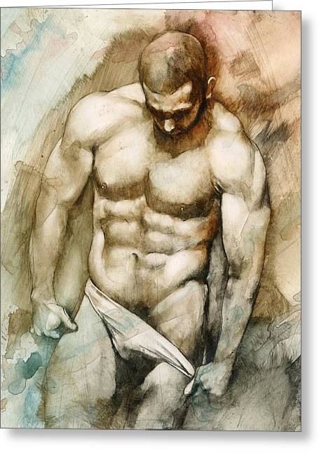 Chris Lopez Greeting Cards - Nude 49 Greeting Card by Chris  Lopez
