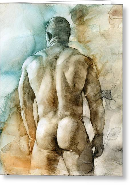 Chris Lopez Greeting Cards - Nude 51 Greeting Card by Chris  Lopez
