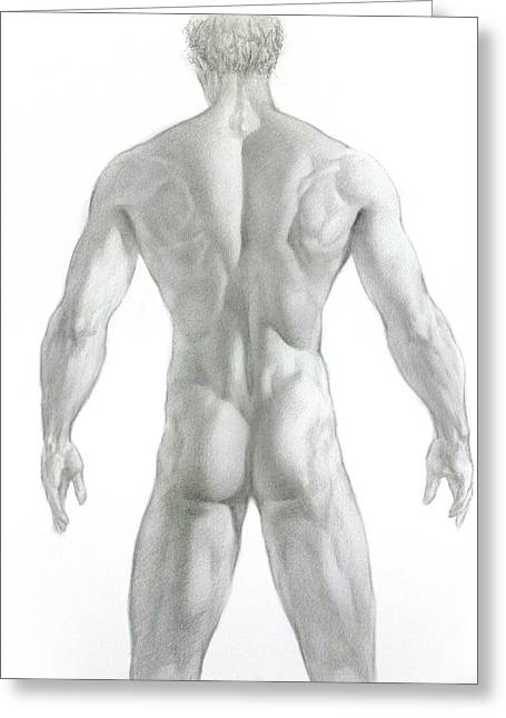 Valeriy Mavlo Drawings Greeting Cards - Nude 7 Greeting Card by Valeriy Mavlo