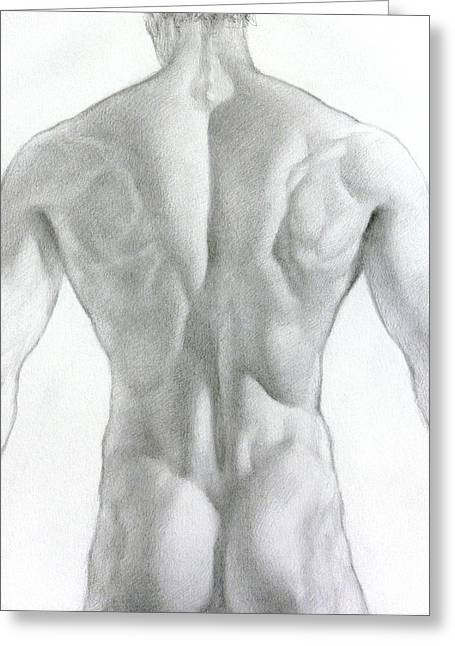 Valeriy Mavlo Drawings Greeting Cards - Nude 7a Greeting Card by Valeriy Mavlo