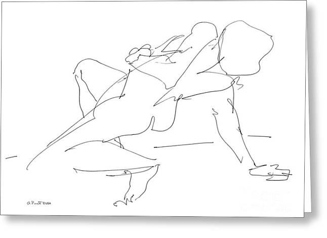 Gordon Punt Greeting Cards - Nude-Female-Drawing-17 Greeting Card by Gordon Punt