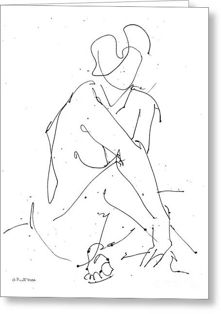 Gordon Punt Greeting Cards - Nude-Female-Drawing-19 Greeting Card by Gordon Punt