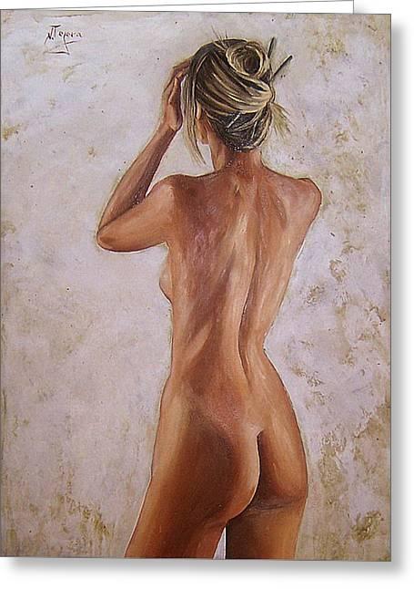 Nude Greeting Card by Natalia Tejera