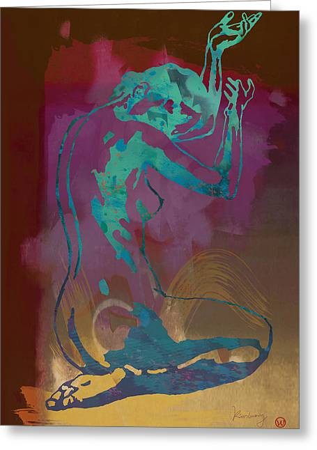 Featured Art Greeting Cards - Nude - pop etching style art poster  Greeting Card by Kim Wang