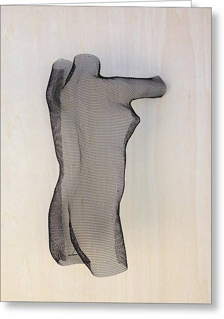Sized Sculptures Greeting Cards - Nude Greeting Card by Prawech Pranaprom